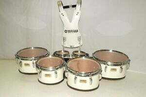 Yamaha Marching Field Corps Sextet Tenors 6 Tom Drums 6 610 12 13 14 Harness