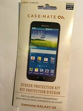 Case Mate Original Twin Pack Samsung Galaxy S5 Screen Protection Kit CM030964