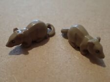 Lego light brown/tan Rat minifigure accessories Two Rats       (P172)