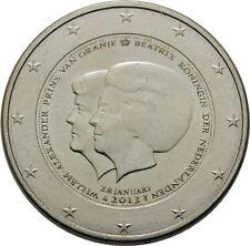 ---   2 EURO COMMEMORATIVE CIRC - PAYS-BAS 2013 - DOUBLE PORTRAIT