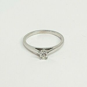 Genuine 9ct Solid 0.14ct Diamond ring in White Gold