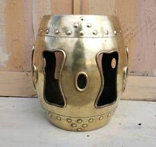 Asian Brass Drum Garden Stool