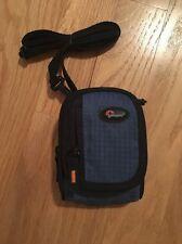 Brand New Lowepro Ridge 10 Blue Compact Digital Camera Pouch Case Bag w/strap