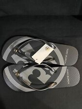 100% AUTHENTIC TORY BURCH BLACK/GRAY/009 FLIP FLOP SIZE 7 NEW WITH TAGS