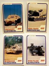 4 BMY Combat Systems Cards 1985 BLC Military Fire Support Team Memorabilia