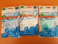 100 Pack Dental Floss Picks - teeth clean Care - Disposable Picks -Dental Care