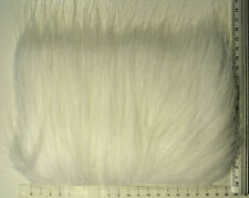 White Extra Long Pile Yak Craft Fur, Fly Tying Material