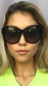 Tom Ford  Black Oversized 61mm Women's Sunglasses T1