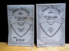 SHADOW STITCHING SEWING & EMBROIDERY PATTERN CHILD & ADULT V-LINE COLLAR sz SML