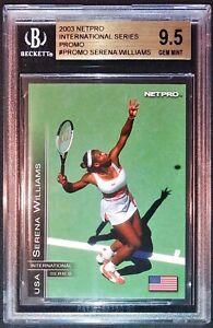 2003 Netpro  Serena Williams International Series Promo RC BGS 9.5 - RARE!