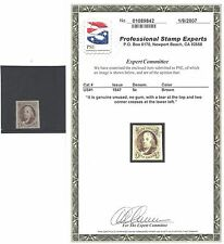 US 1847 Scott #1 Franklin Mint Stamp with 2007 PSE certificate!   美 邮