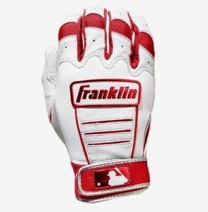 Franklin CFX Pro Baseball Batting Gloves Red White XL