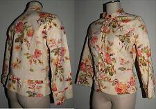 Anthropologie Elevenses Multi-Color Floral Jacket Mandarin collar Sz 10