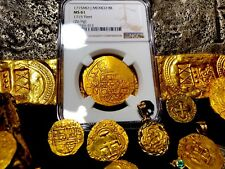 MEXICO 1715 FLEET SHIPWRECK 8 ESCUDOS NGC 61 PIRATE GOLD TREASURE COB COINS