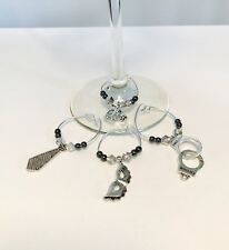 50 Shades Of Gray  Wine Glass Charms 4pc Set (Gift Idea 50 shades Darker BDSM)