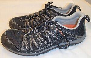 Merrell HyMist Black/Burnt Orange Trail Hiking Shoes Sneakers Runners Mens Size