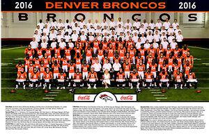 2016 Denver Broncos Official Team Photo 11x17 Poster SGA -  Super Bowl Champions