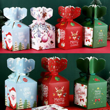 10/50Pcs Xmas Christmas Gift Box Favour Present Wrapping Bag Candy Boxes Party