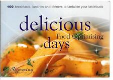 DELICIOUS FOOD OPTIMISING DAYS 100 B/FAST LUNCH & DINNERS VGC GREEN RED PLAN