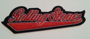 """Rolling Stones~Cursive~Rock & Roll~Embroidered PATCH~3 3/4"""" x 1 1/4""""~Iron or Sew"""