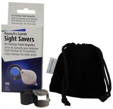 Triplet Lens High Quality Loupe Magnifier Bausch & Lomb 10X Diamonds Coins Stamp