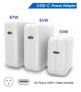 30W 61W 87W USB-C Power Adapter Charger Type-C for Apple Macbook Air Pro Laptop
