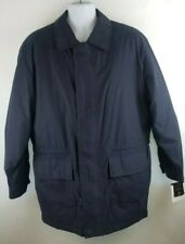 Claiborne Outerwear Microfiber Mens Jacket Size L Navy Blue Removable liner NWT
