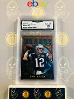 2004 Topps Chrome Tom Brady RH-38 - 10 GEM MT GMA Graded Patriots Football Card