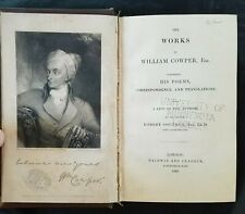 1835 Works of William Cowper, Poems/Correspondence/Translations, Robert Southey