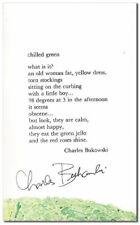 Charles Bukowski-CHILLED GREEN (1970)-1ST ED-ORIG.MARBLED POSTCARD POEM-SIGNED!