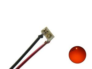 SMD Leds 0201 Orange With Wire Enamelled Copper Wire Micro Mini 10 Piece S1143