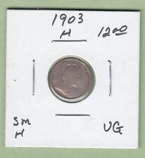 1903-H Canadian 5 Cents Silver Coin - VG