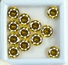 Yellow Sapphire 12 Pcs Gemstone Lot 30 Carat Natural Round Cut AGSL Certified