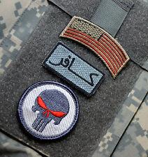 Kandahar Whacker Isaf Afsoc Tacp Jtac 3-TAB : Us Flagge+Ungläubiger+Punisher
