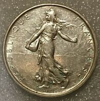 1964 FRANCE Silver 5 Francs Coin with La Semeuse SOWER WOMAN (.835) 12g, 29mm