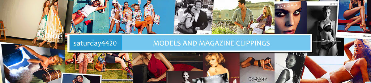 models and magazine clippings