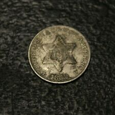 1852 3 cents Three cent Silver