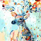 Animal Deer Oil Painting Modern Abstract Wall Art Pictures Craft Home Room Decor