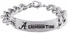 ALABAMA CRIMSON TIDE * Stainless Steel ID Bracelet with Logo * NCAA Jewelry  NEW