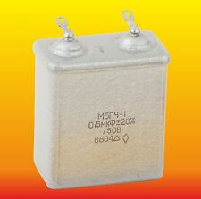 0.5 uF 750 V Lot Of 2 Russian Paper In Oil (Pio) Audio Capacitors Mbgch-1