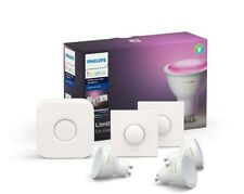 Philips Hue White and Colour Ambiance Starter Kit: Smart Bulb 3x Pack LED [GU10
