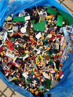 LEGO 2.5 Lb Bulk lot Random Pull + 2 Minifigures Authentic Educational Parts Mix