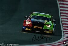 "British Touring car Colin Turkington main signé eBay AUTO-MOTO BMW 12x8"" BTCC AF"