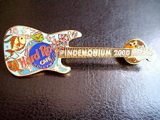 HRC Hard Rock Cafe Hollywood Pindemonium 2000 Blue Stratocaster Guitar LE500