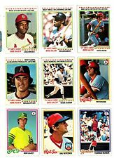 1978 TOPPS BASEBALL Key cards, $1.95 and up, GD TO EX