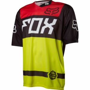 Fox Racing Demo s/s Short Sleeve Jersey Black/Yellow