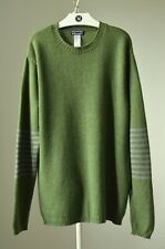 Patagonia Green Knit Lambswool Sweater Pullover Jumper Size L