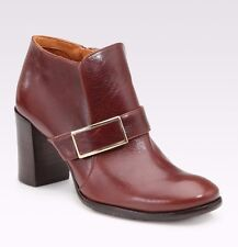 CHIE MIHARA SHOES KANSAS BUCKLE BOOTIES DK BROWN LEATHER ANKLE BOOTS MOD 7 $450
