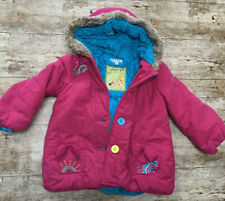 MARKS AND SPENCER COAT GIRLS Pink Age 3 To 4 Years Size Warm Lined Jacket