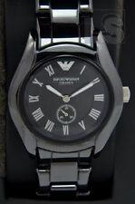 Emporio Armani - Damenuhr AR1402 Ceramica schwarz analog